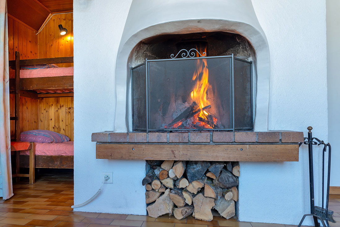 Chalet Doménon Nurit feu de bois