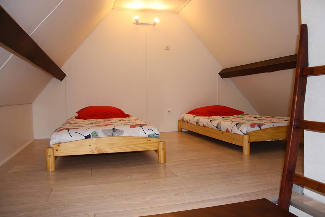 Chalet le Pra Nurit chambre deux lits